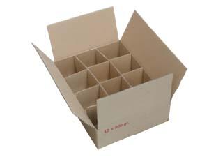 carton pour 12 pots verre de 500 gr t063 sans intercalaire par 20. Black Bedroom Furniture Sets. Home Design Ideas