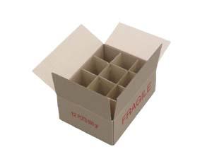carton pour 12 pots verre de 500 gr t082 sans intercalaire par 20. Black Bedroom Furniture Sets. Home Design Ideas