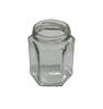 Pot verre 390 ml TO70 hexagonal - Le pack de 20